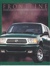 Lincoln Mercury Frontline Dealer Magazine Sep/Oct 1997 98 Lineup Intro Mark VIII