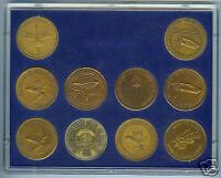Set Of 25 Space Shuttle Bronze Coins In Plastic Cases