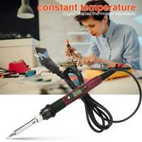 220V 80W Digital Constant Temperature Adjustable Soldering Iron Welding Pen Tool
