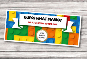 *PERSONALISED* surprise LEGOLAND windsor TICKET card birthday SCRATCH CARD
