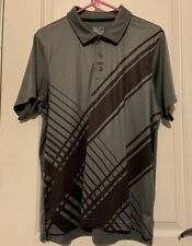 Under Armoir Heat Gear Mens Polo Grey Large Pre-owned Fitted