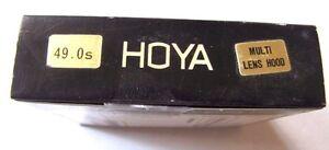 Hoya 49mm Multi Lens Hood Folding Rubber Sun Shade 49 mm Wide Normal Tele Japan