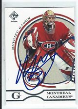 Mathieu Garon Signed 2003/04 Pacific Private Stock Card #52