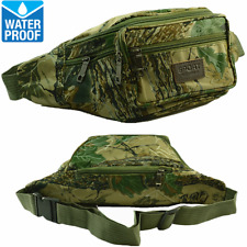 Unisex WATERPROOF Fanny Pack Travel Camo Pouch Waist Shoulder Hip Belt Bag