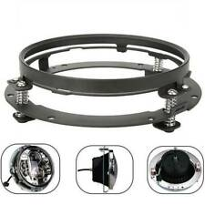 For Jeep Wrangler Mounting Ring Bracket 7 Inch LED Headlight Adapter Round Black