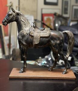 Large Metal Horse Statue Figure Bronze Shelter Iron Sculpture TROPHY CRAFT