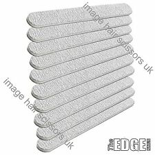 10 X The EDGE cushioned ZEBRA STRAIGHT Nail Files 100/180 Grit File Tip Acrylics