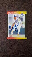 1989 Donruss Mark Gubicza #179 - Kansas City Royals - Autographed!