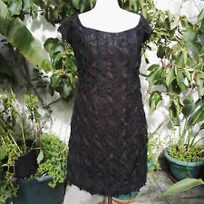 Dress 1980 Vintage Black by Gina Bacconi Original Clothing