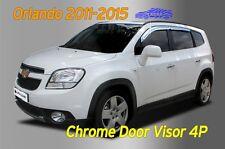 Chrome Door Visor Rain Vent Guard Window Silver A489 for Chevy Orlando 2011~16