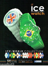 PUBLICITE ADVERTISING 086  2012  les montres Ice -Watch  world collection
