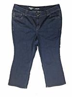 LANE BRYANT Plus Size 22 Petite Dark Wash Blue Distinctly Boot Cut Jeans