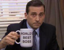 "The Office ""World's Best Boss"" Novelty Coffee Mug Birthday Christmas Office Gift"