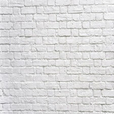 Vinyl Photography Background Backdrop Studio Photo Props White BRICK 8X8FT QB48