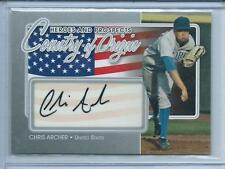 2011 ITG Heroes & Prospects Chris Archer Country of Orgin AUTO AUTOGRAPH RC