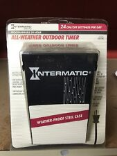 (4) Intermatic TimeAll Programmable 24 Hour All-Weather Outdoor Timer Steel Case