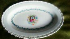 Myott Meakin - Floral Design --Gilt edge  Oval Dish