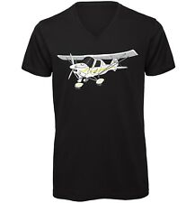 Ikarus C42 Hand drawn Men's V-Neck Quality T-Shirt