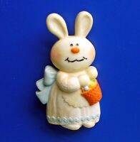 Hallmark PIN Easter Vintage BERNADETTE BUNNY RABBIT Brooch DATED & SIGNED 1975