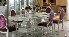 6 Stühle Set Esszimmer Designer Holz Stuhl Garnitur Antik Stil Barock Rokoko E62