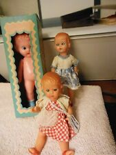 2 Italian hard plastic dolls and  a Knickerbocker doll  from the 50's