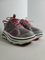 Hoka One One Womens Bondi B Running Shoes Purple Grey Lace Up F70013F Sz 7