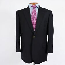 Super-fine Wool Mens 42R Navy Blue Antique Brass Button Blazer Sport Coat 237