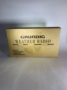 Grundig G-2 AM / FM WEATHER RADIO NEW