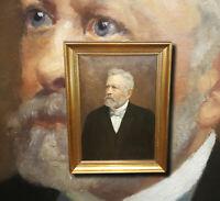 Antikes Biedemeier Herren Portrait C. BREDO 09 Antikes Ölgemälde Bartmode Bärte