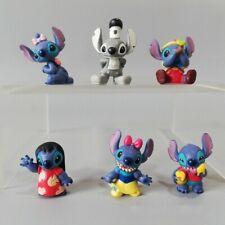 1 Set of 6 Disney Stitch Figures Figurines Cake Topper Ornament House Decor Toy