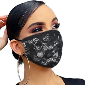 RELBCY Wedding Lace Mouth CoverCotton Masks Scarf Reusable Face Cover Rave for