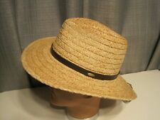 SCALA Hat raffia straw Outback hiking hat MEDIUM