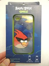 New Angry Birds Space Cell Phone Cover For I phone 4 & 4S Red Bird High Gloss