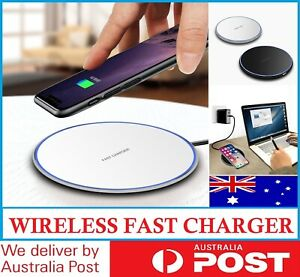 Qi Wireless Charger FAST Charging Pad For iPhone 12 Pro 11 X XS 8 8+ Samsung AU