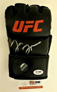 "JON ""BONES"" JONES  SIGNED  NEW UFC  LEFT HANDED BLACK GLOVE, PSA COA #8A83675"