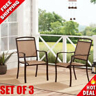 3-piece Patio Bistro Set Outdoor Table Chairs Garden Deck Pool Seating Furniture