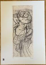 Limited Edition Alphonse Mucha Female Form Print