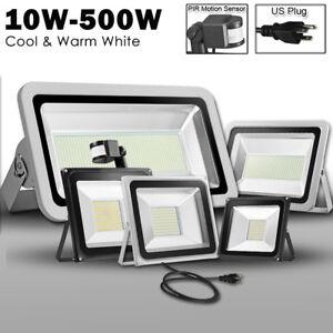 500W 300W 200W 150W 100W 50W 30W 20W 10W LED Flood Light Outdoor Lamp w/ US Plug