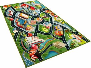 Kids Carpet Playmat Rug City Life Great for Playing with Cars and Toys 60 x 32