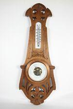 "Jugendstil Wetterstation Thermometer Barometer ""Winterhalter Donaueschingen"""