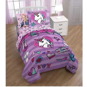 Nickelodeon Jojo Siwa Full Sheet Set Kid 4 Piece Bedding Girls Pink Unicorn New