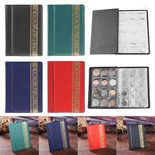 120Pockets PVC Coin Collection Book Album Money Penny Collecting Storage Holder