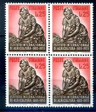 ITALIA 1955 - AGRICOLTURA  QUARTINA NUOVA **