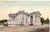 VINTAGE UNUSED POSTCARD MEMORIAL CONTINENTAL HALL WASHINGTON D.C. B.S REYNOLDS