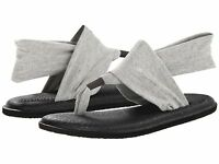 Women's Shoes Sanuk YOGA SLING 2 Knit Fabric Sandals SWS10001 Grey *New*