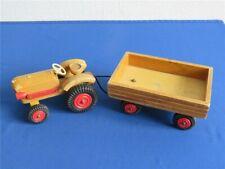 Altes DDR Holzspielzeug Traktor mit Hänger Holztraktor Spielzeug