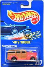 HOT WHEELS 1991 BLUE CARD '40'S WOODIE #217