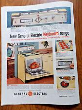 1957 GE General Electric Keyboard Range Ad