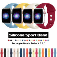38/42mm 40/44mm Silicone Sports Apple Watch Band Strap for iWatch Series 5 4 3 2
