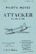 SUPERMARINE ATTACKER and HAWKER SEA HAWK - EARLY JETS